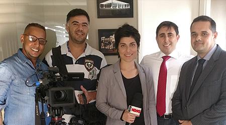 GloboNews grava matéria no Terras Coelho Advogados.